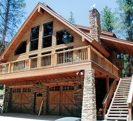 Log Home Floor plan - Alpine Chalet - Log Homes and Log Cabin