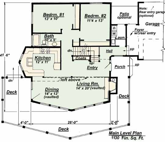 3D Floor Plan Designs - Example House Floor Plans - Home Floor Plans