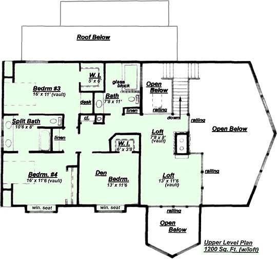 Creative House Plans Model Hc 540 Upper Floor Plan
